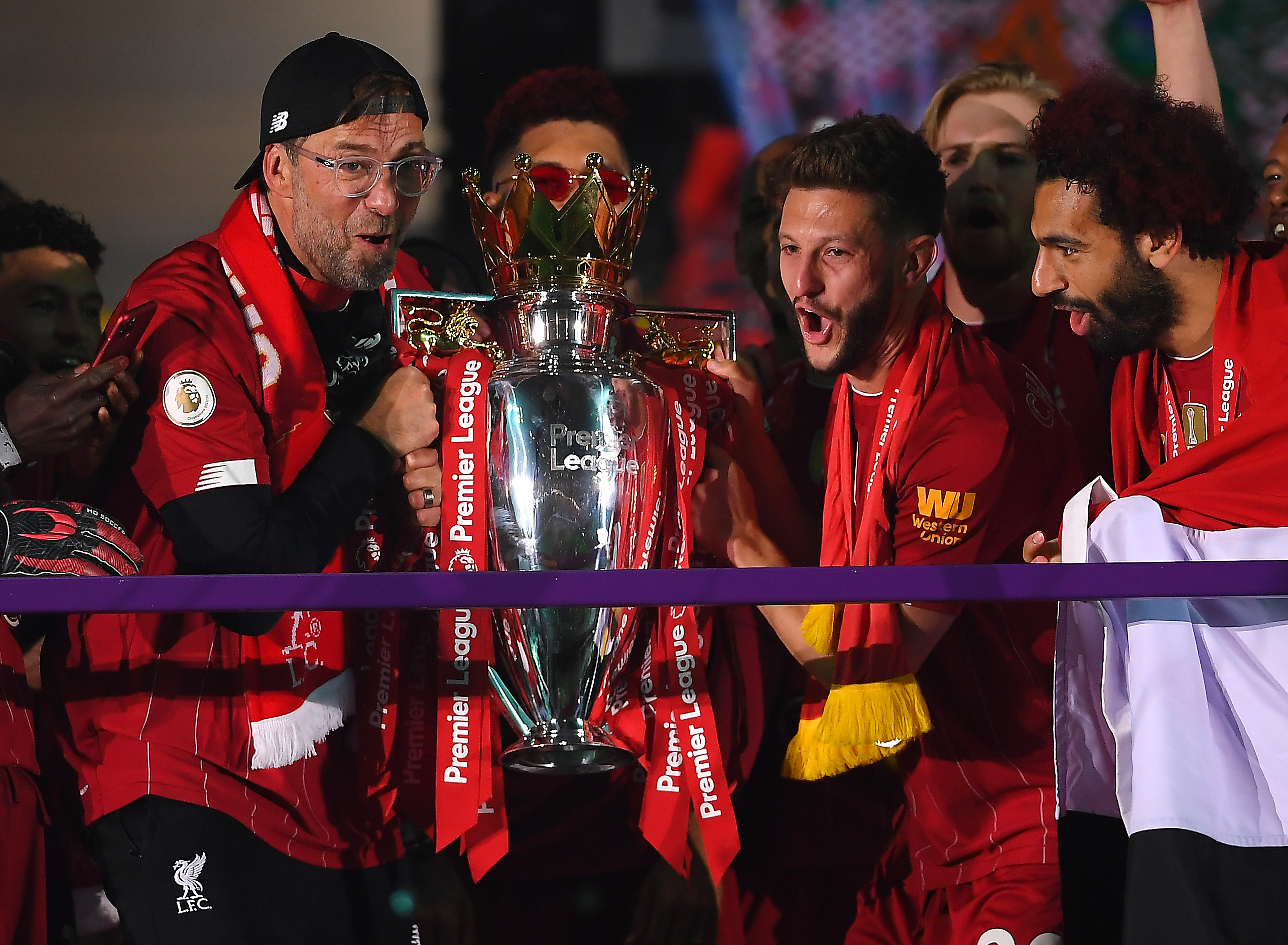 Strongest Liverpool lineup for the new season (Liverpool players and manager celebrating in the picture)