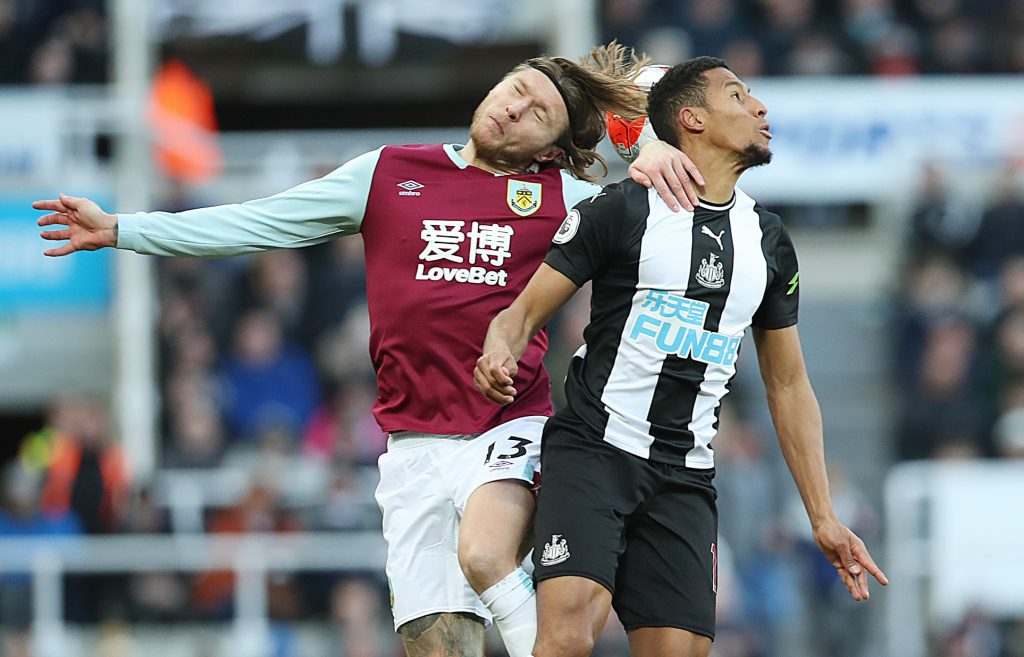 Newcastle United set to rival Aston Villa for Hendrick who is in action in the picture