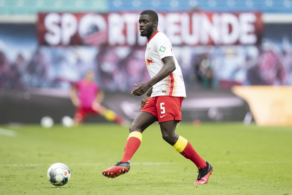 Manchester City could land Upamecano for €40m next summer (Upamecano is in action in the picture)