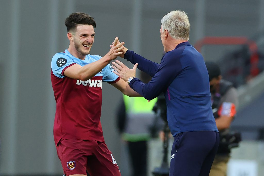 Chelsea Are Interested In West Ham United's Declan Rice - Rice reacts with Moyes