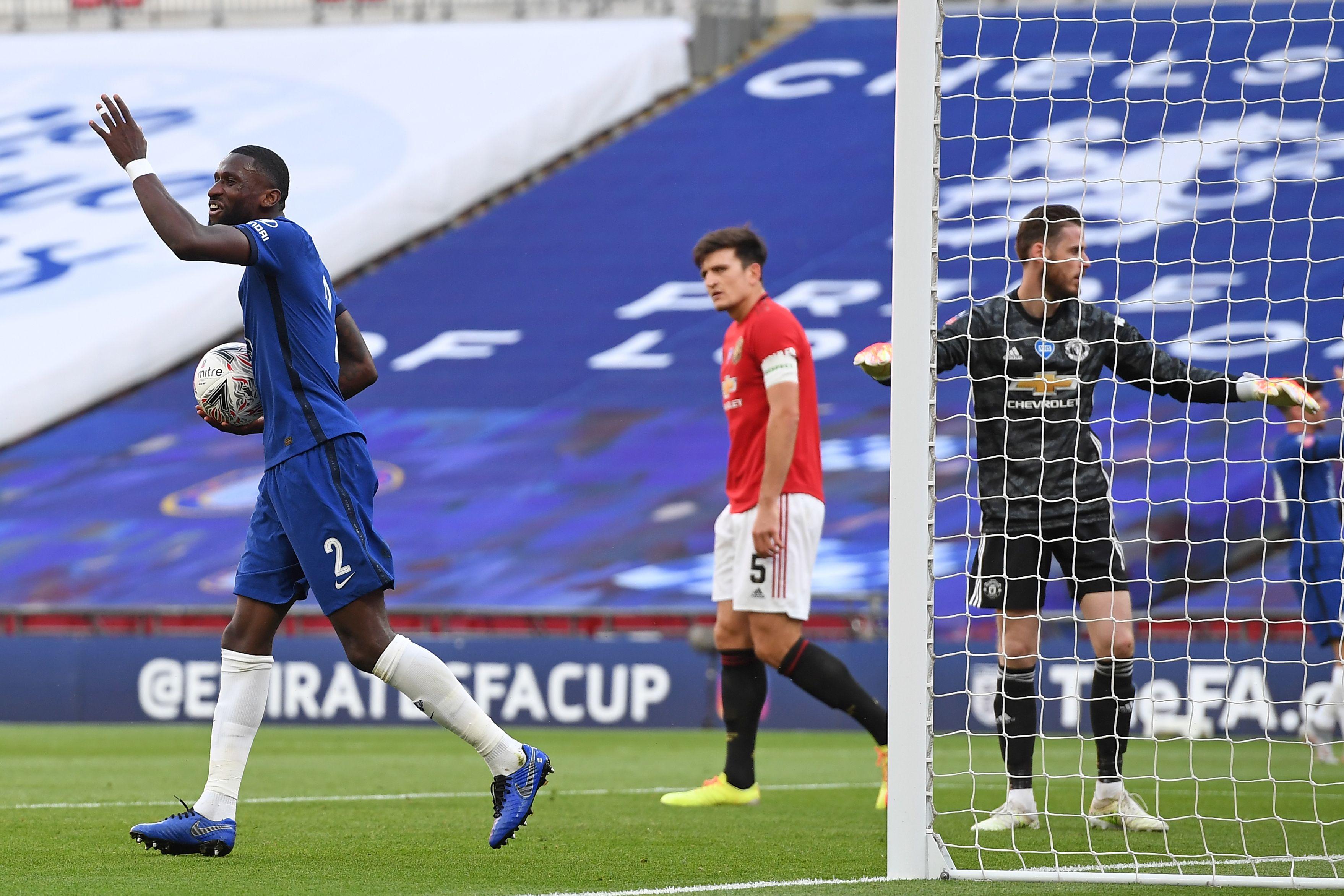 Chelsea's Antonio Rudiger Has Held Crunch Talks With Lampard - Rudiger celebrates