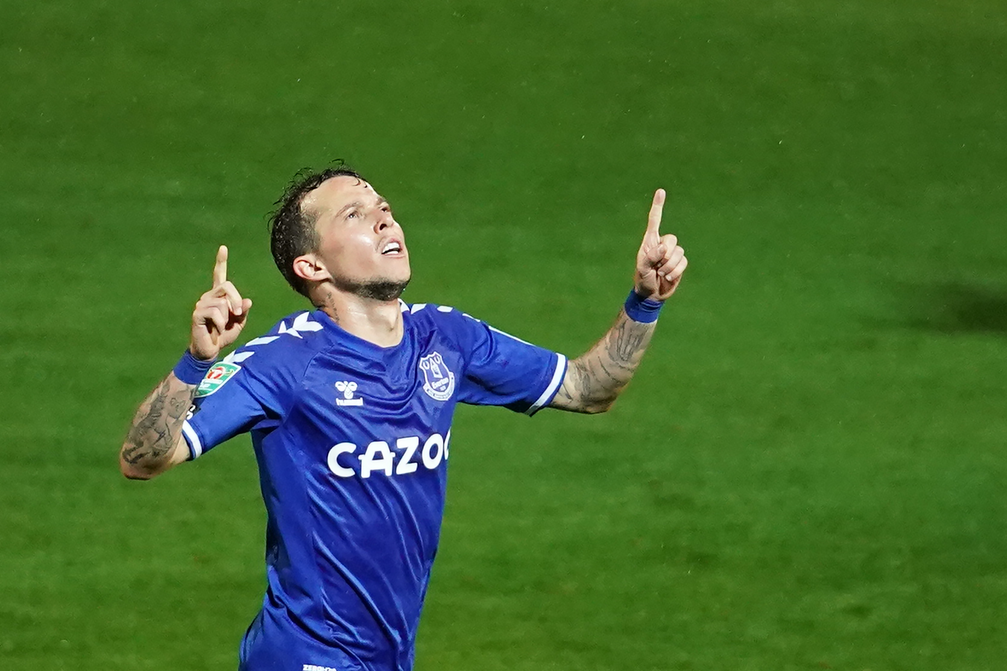 AS Roma boss determined to sign Everton's Bernard who is celebrating in the picture