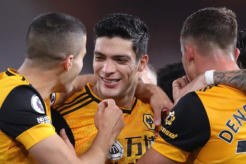 Wolves player ratings versus Newcastle United (Wolves players are seen celebrating in the photo)
