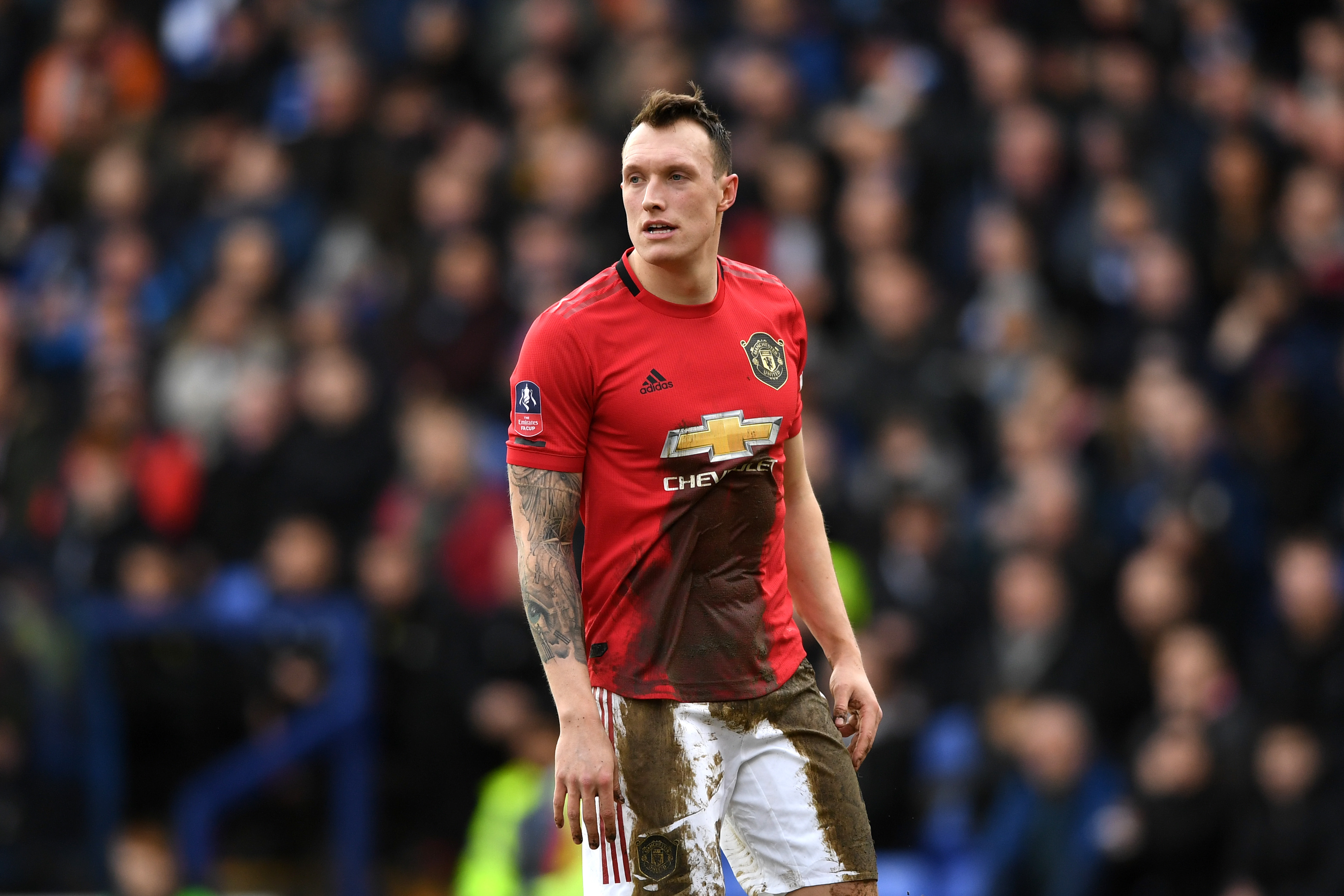 Manchester United set to demand £20m for Jones in January (Man United's Phil Jones is seen in the photo)