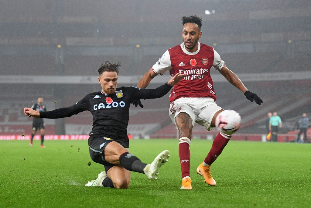 Robinson is full of praise for Aston Villa's Matty Cash who is clearing the ball in the photo