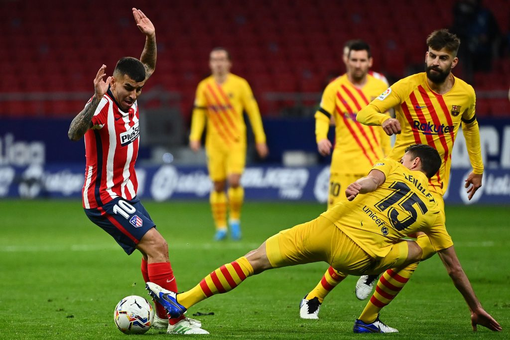 Barcelona player ratings vs Atletico Madrid (Barcelona players are in action in the picture)