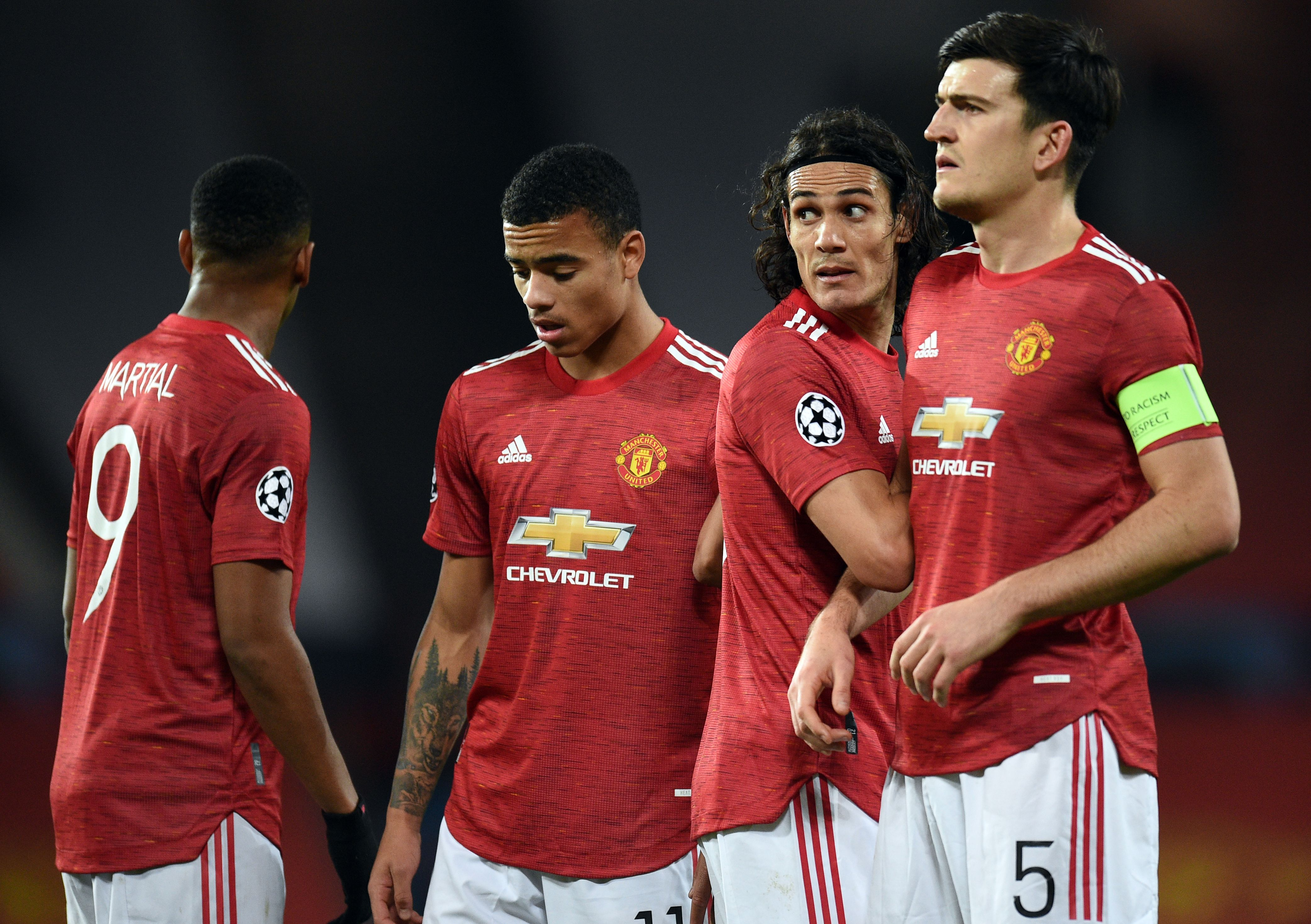 4-2-3-1 Manchester United Predicted Lineup Vs West Ham United (Man United players are seen in the photo)