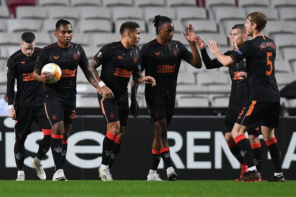 Rangers Player Ratings Vs Benfica - Rangers celebrate