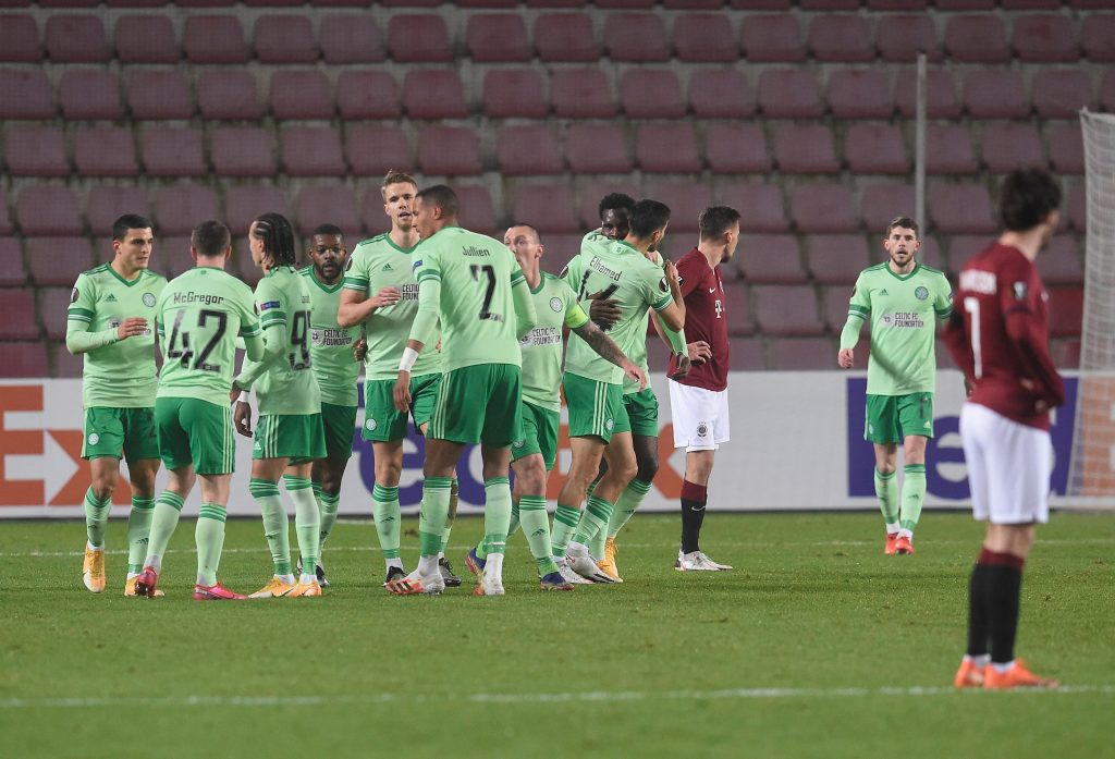 Celtic Player Ratings Vs Sparta Prague - Celtic celebrate