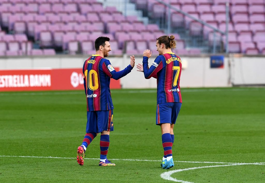 4-3-3 Barcelona Predicted Lineup Vs Ferencvaros (Barcelona players are seen in the photo)