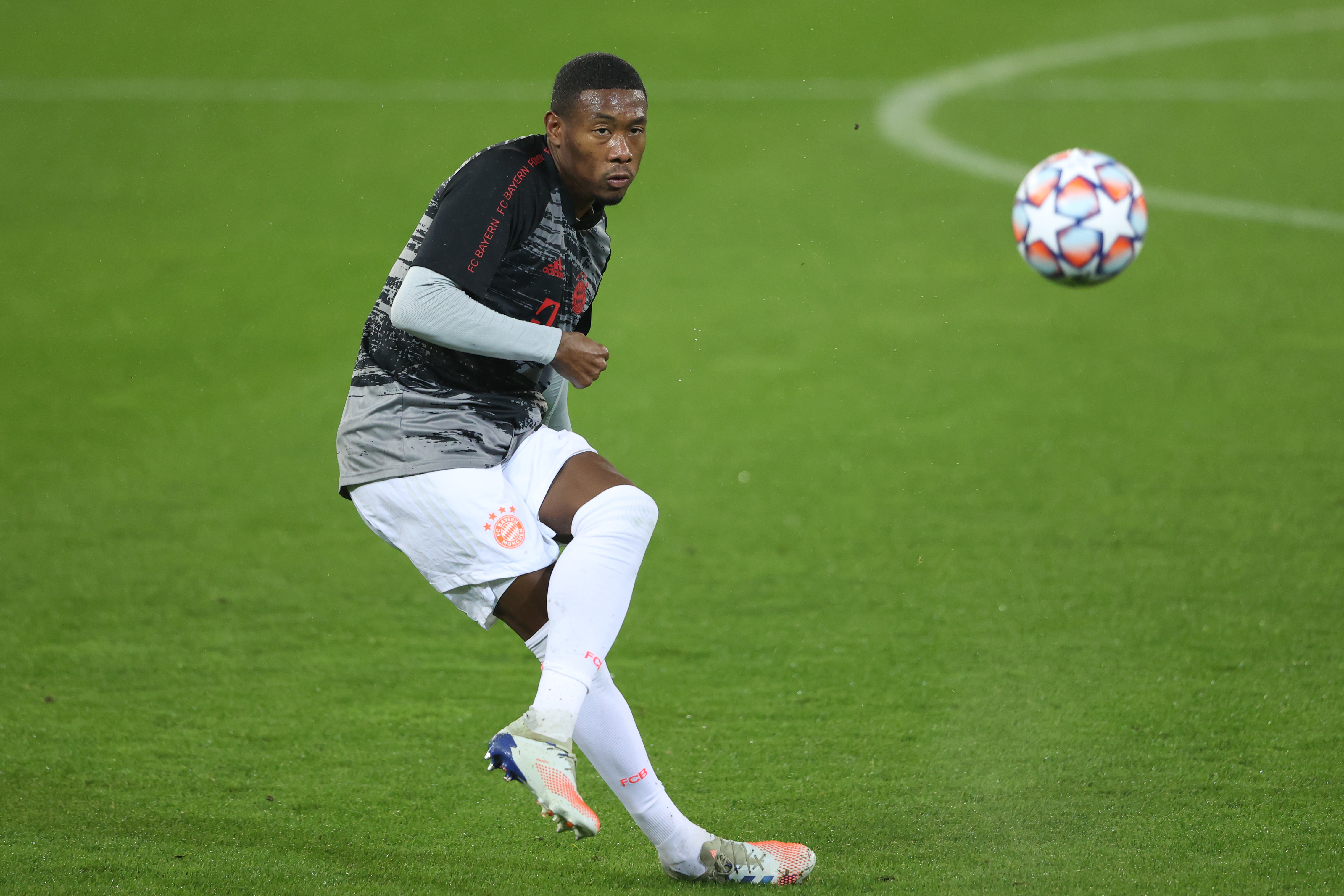 Liverpool locked in a three-way battle for Alaba who is in action in the photo