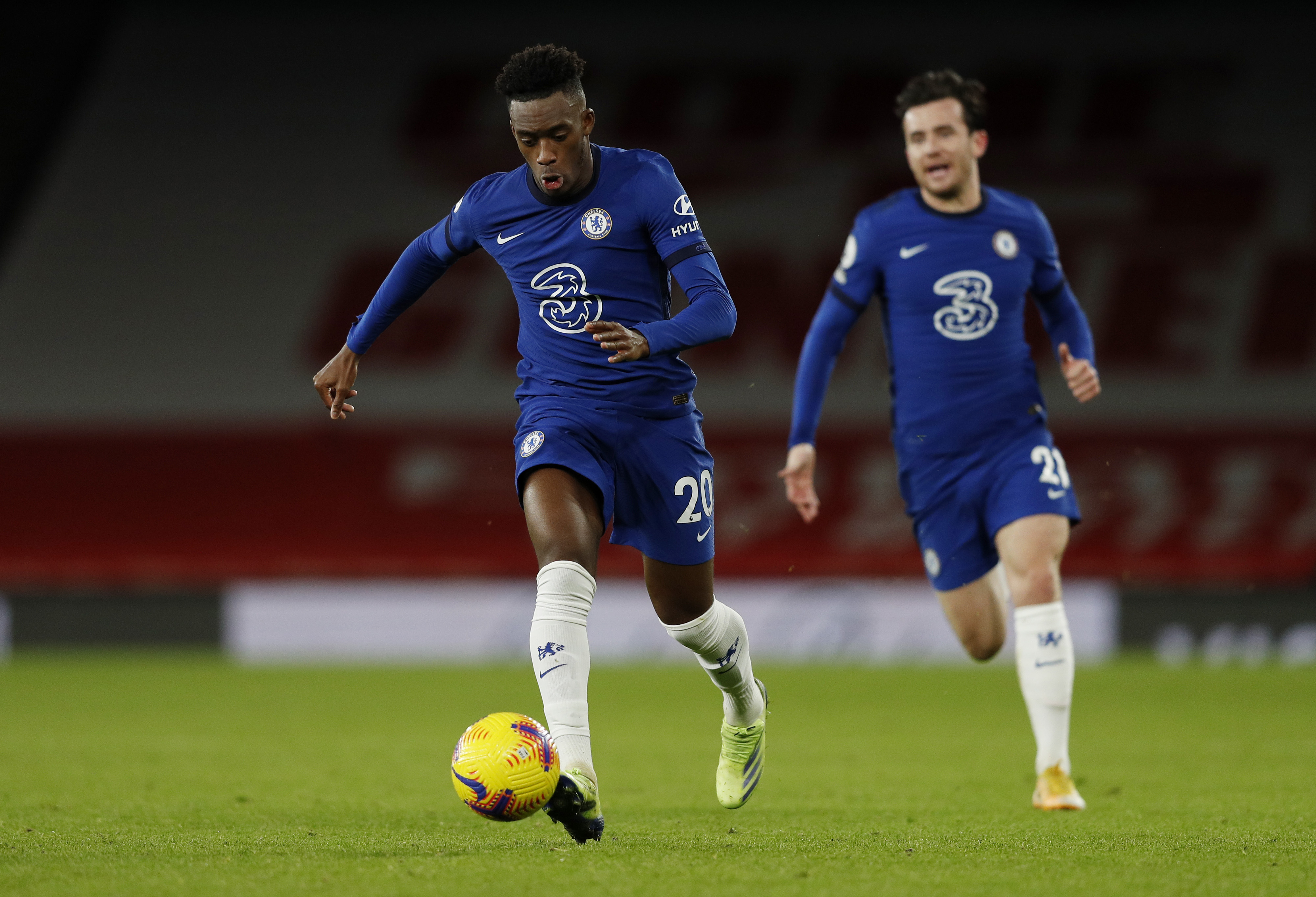 Chelsea players rated in disappointing loss vs Leicester City (Chelsea's Hudson-Odoi is seen in the photo)