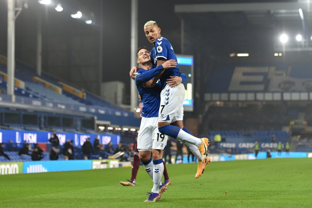 4-2-3-1 Everton Predicted Lineup Vs Leicester City (Everton Players Can Be Seen In The Picture)