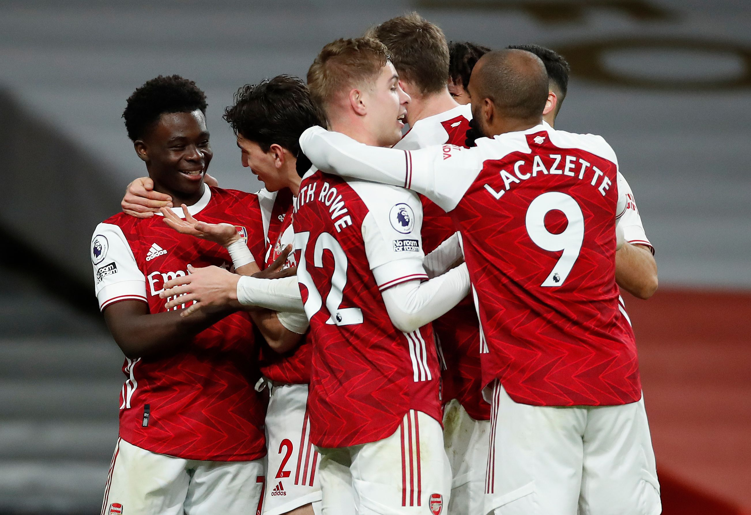 Arsenal player ratings vs West Bromwich Albion (Arsenal players are celebrating in the photo)