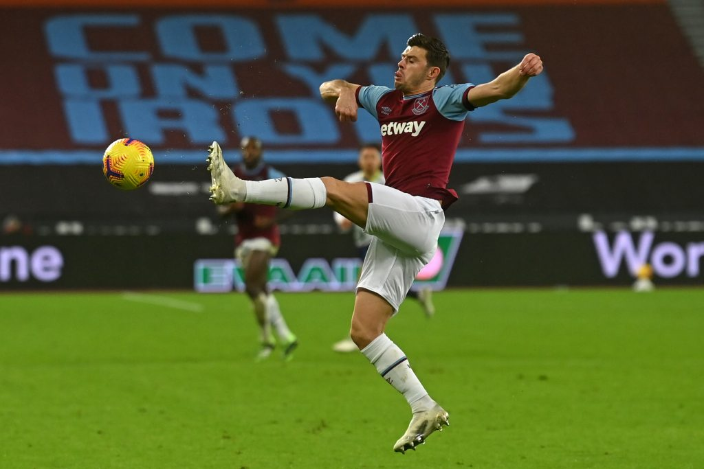 West Ham United player ratings vs Burnley (West Ham's Cresswell is in action in the picture)