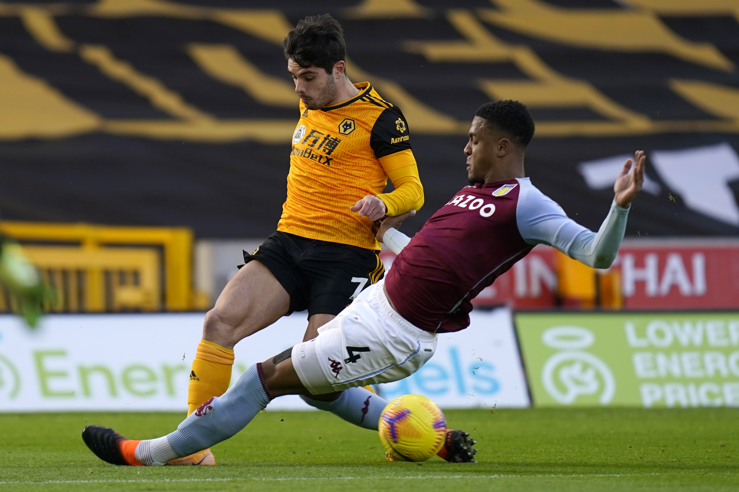 Aston Villa's Konsa is in talks over a new contract (Konsa is in action in the picture)