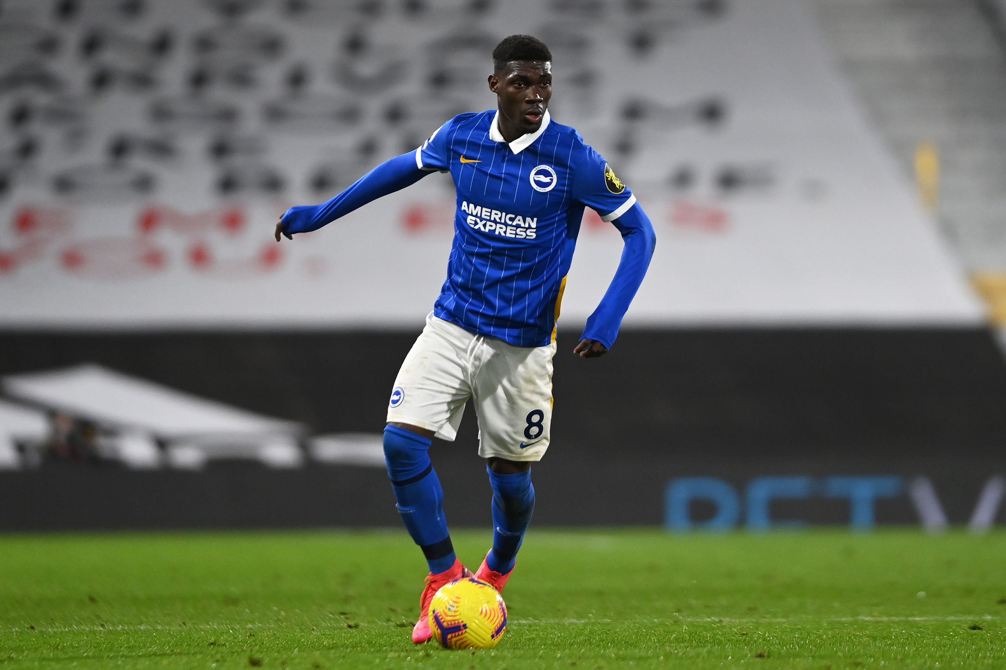 Brighton midfielder Yves Bissouma is on Arsenal's radar (Bissouma is in action in the picture)