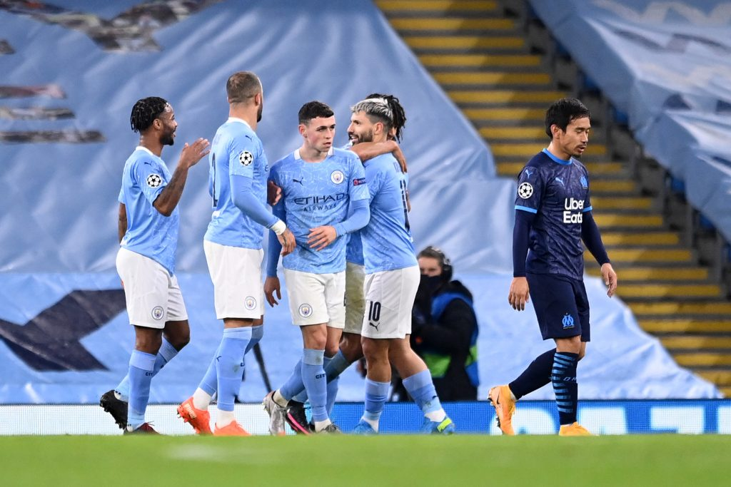 Manchester City Player Ratings Vs Marseille - City celebrate