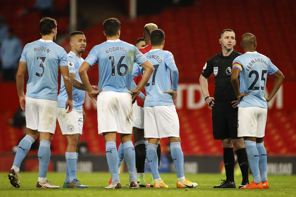 Manchester City player ratings vs Birmingham City (Man City players are seen in the photo)
