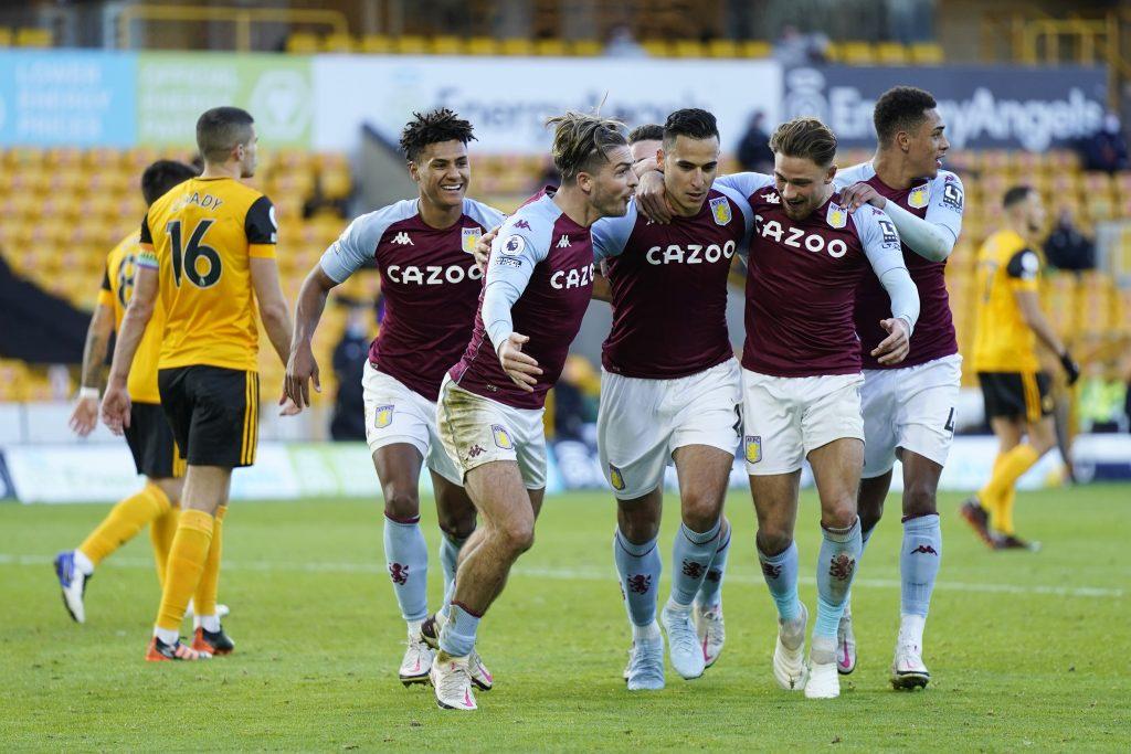 4-2-3-1 Aston Villa Predicted Lineup Vs Brighton (Aston Villa players are celebrating in the photo)