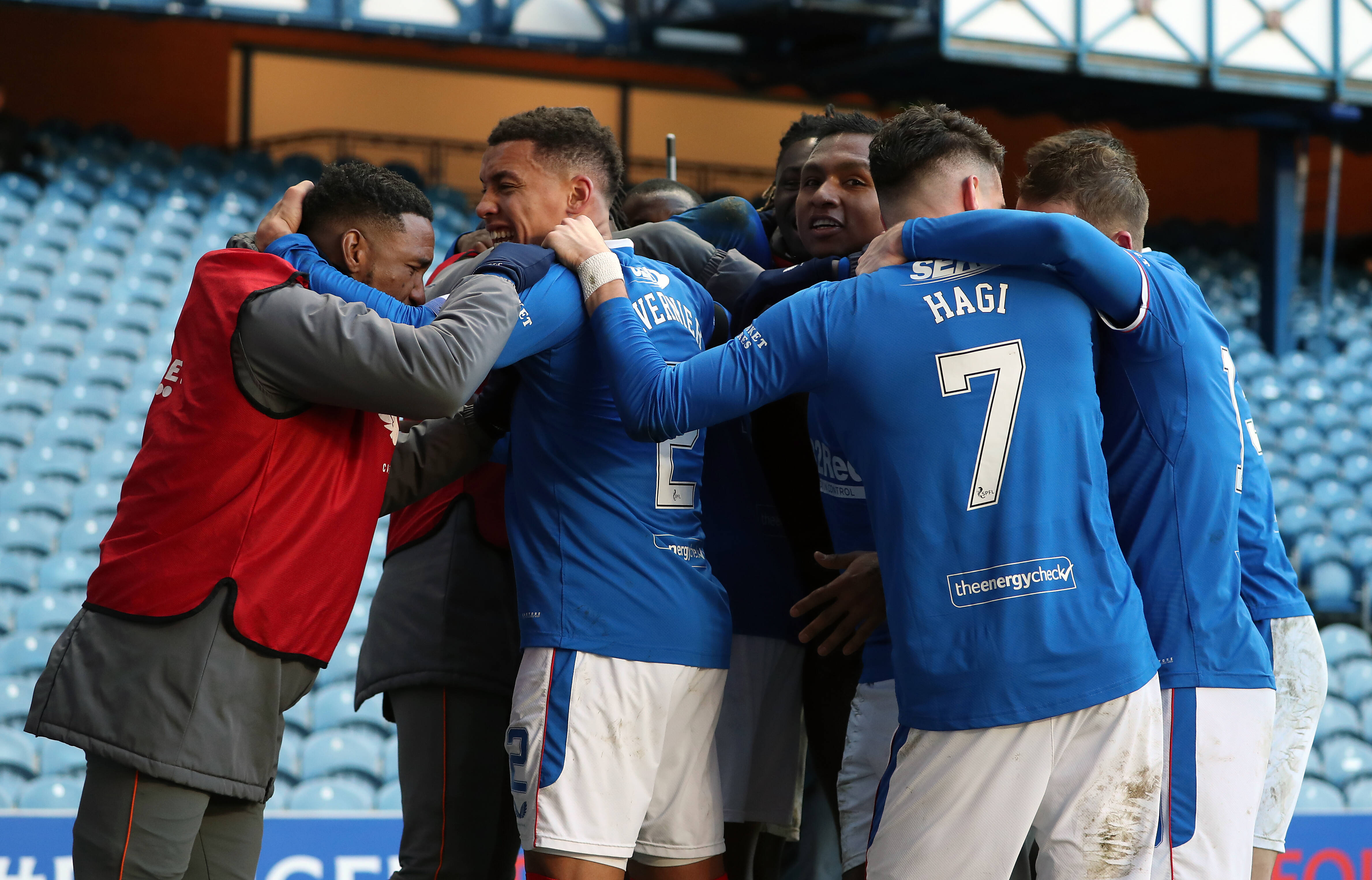 How Did The Fixture Between Celtic And Rangers Play Out - Rangers celebrate