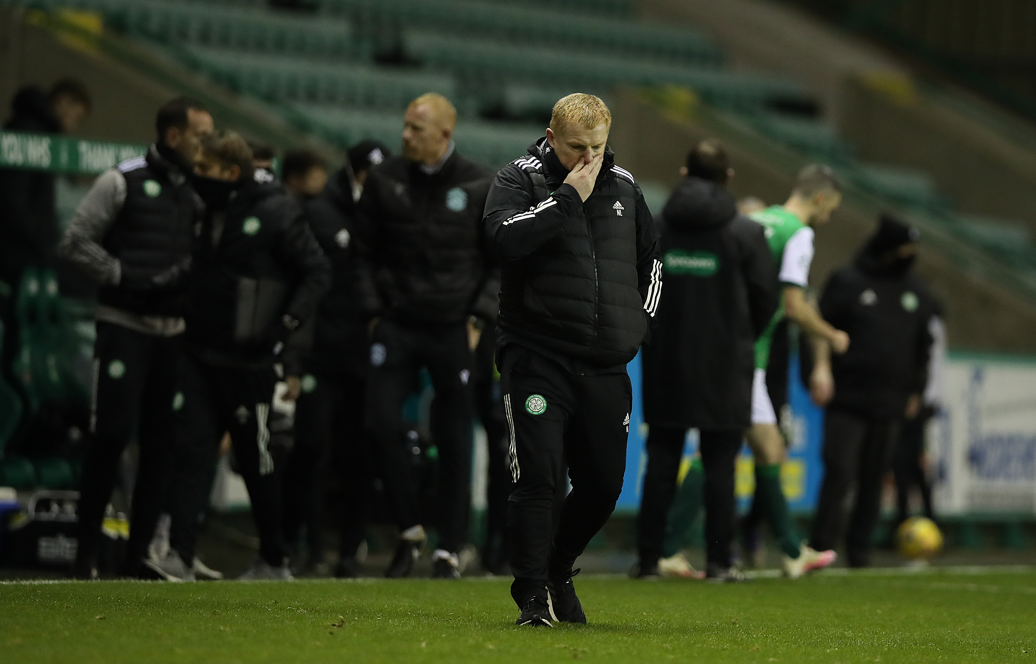 Celtic boss Neil Lennon after his side's 2-2 draw against Hibernian at Easter Road