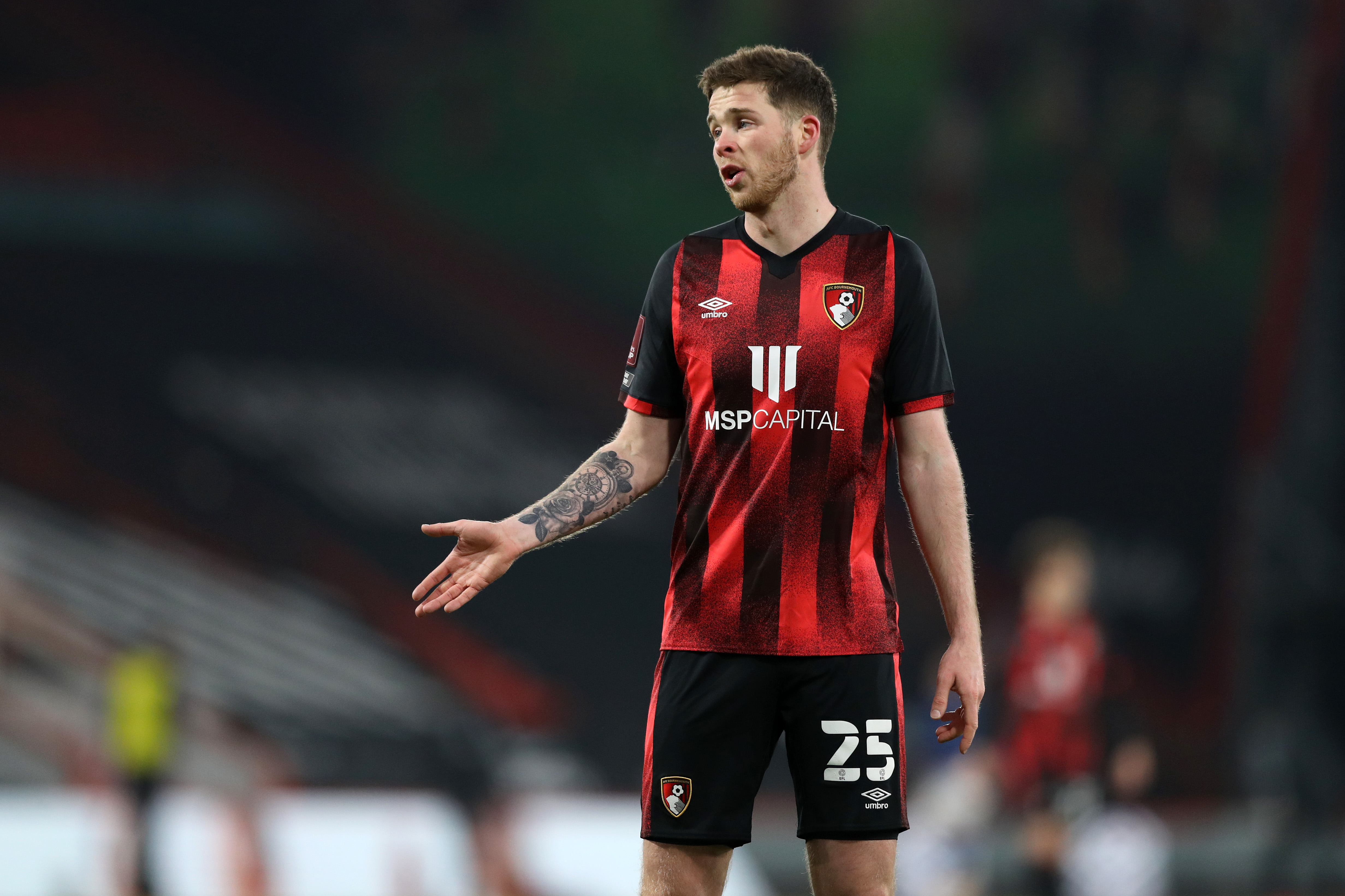Rangers target Jack Simpson is in action for Bournemouth