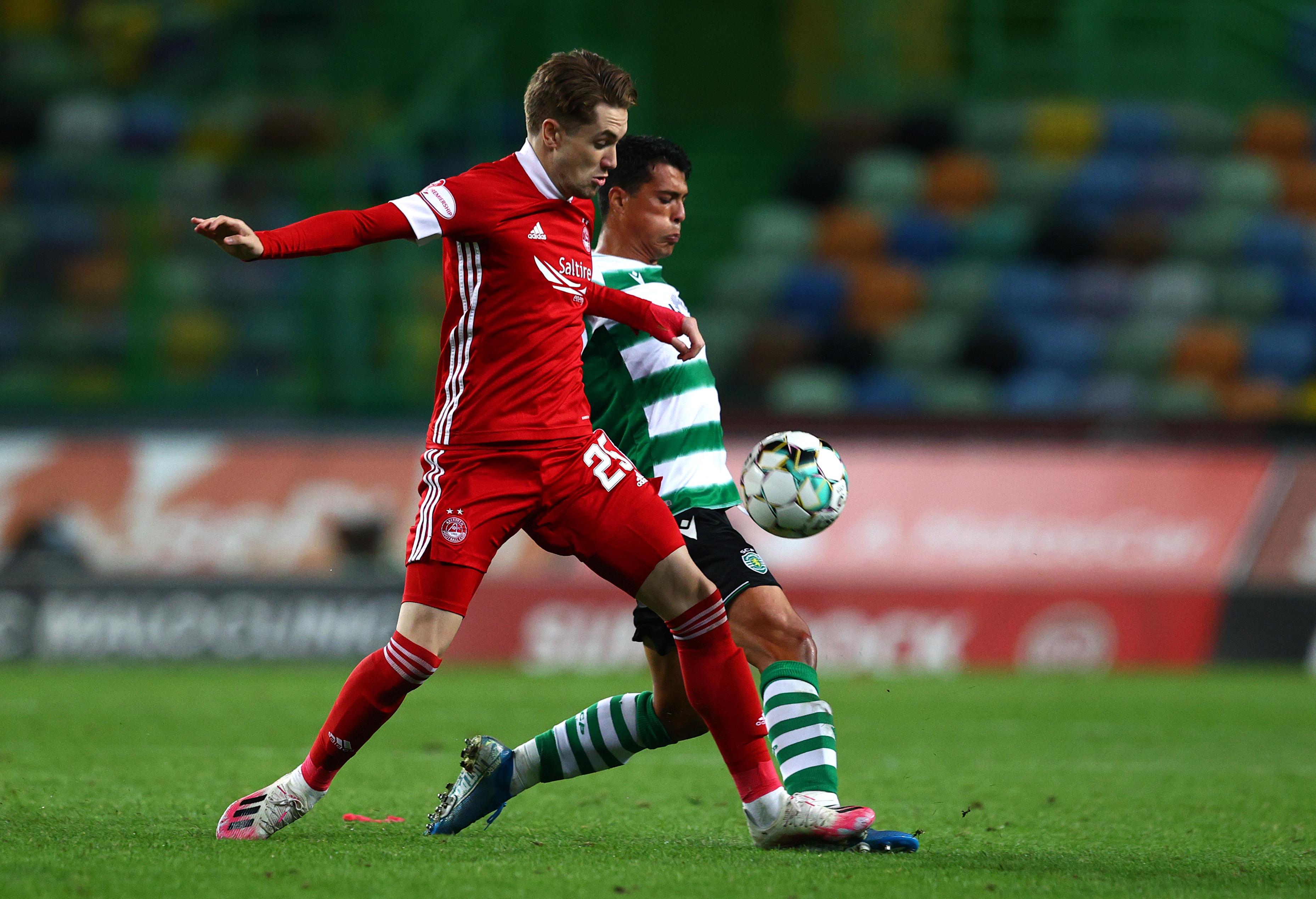 Rangers target Scott Wright in action for Aberdeen