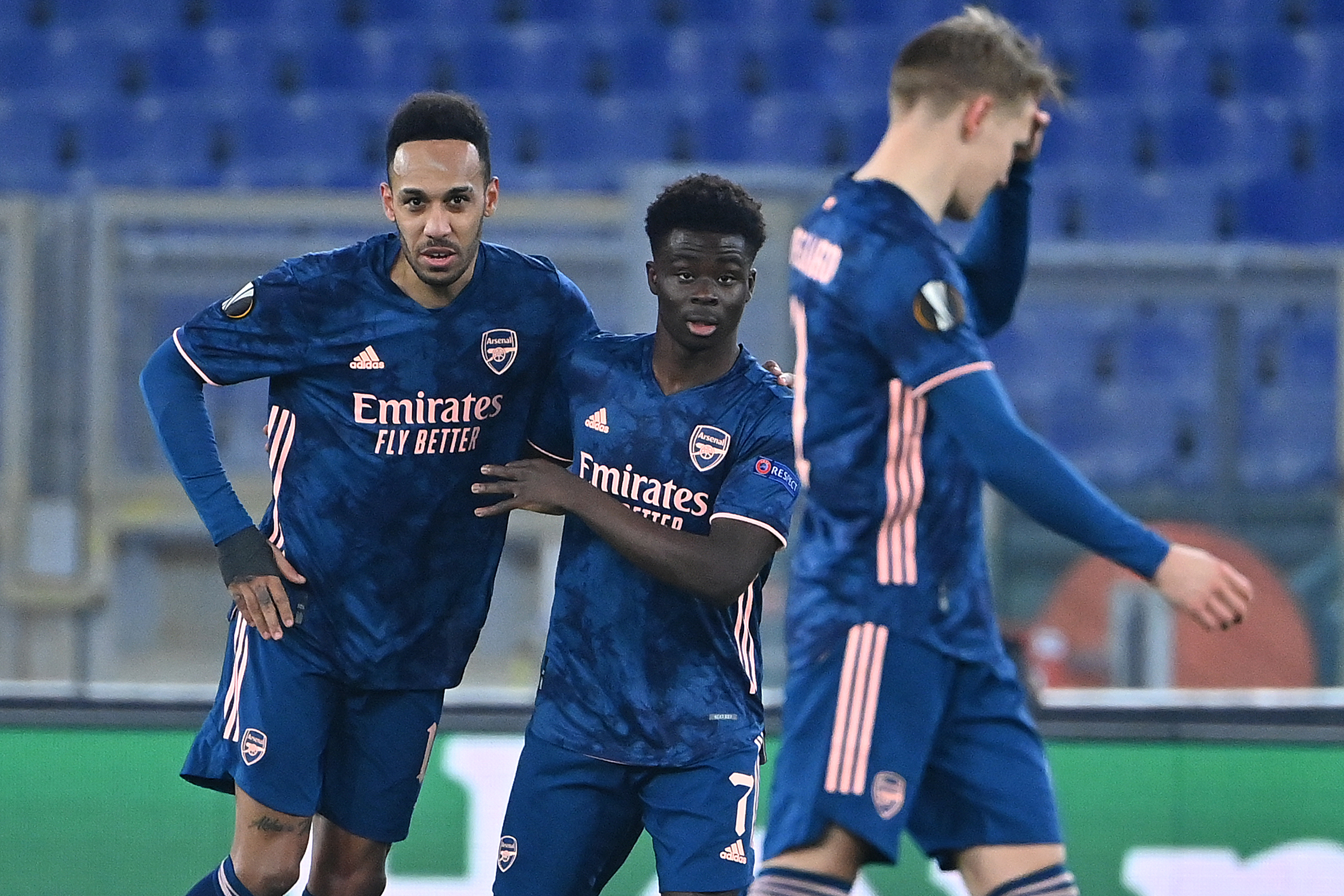 Arsenal players rated in hard-fought draw vs Benfica (Arsenal players are seen in the photo)