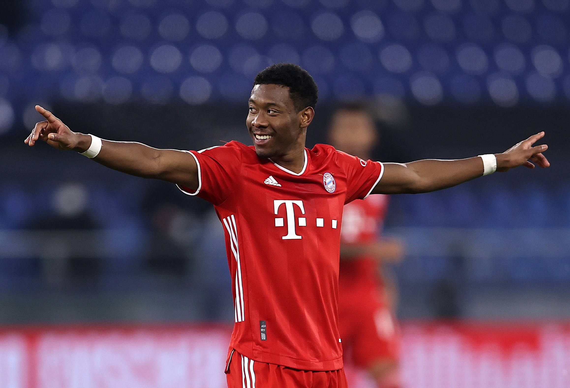 Manchester City among several clubs in the running for Alaba who is seen in the picture