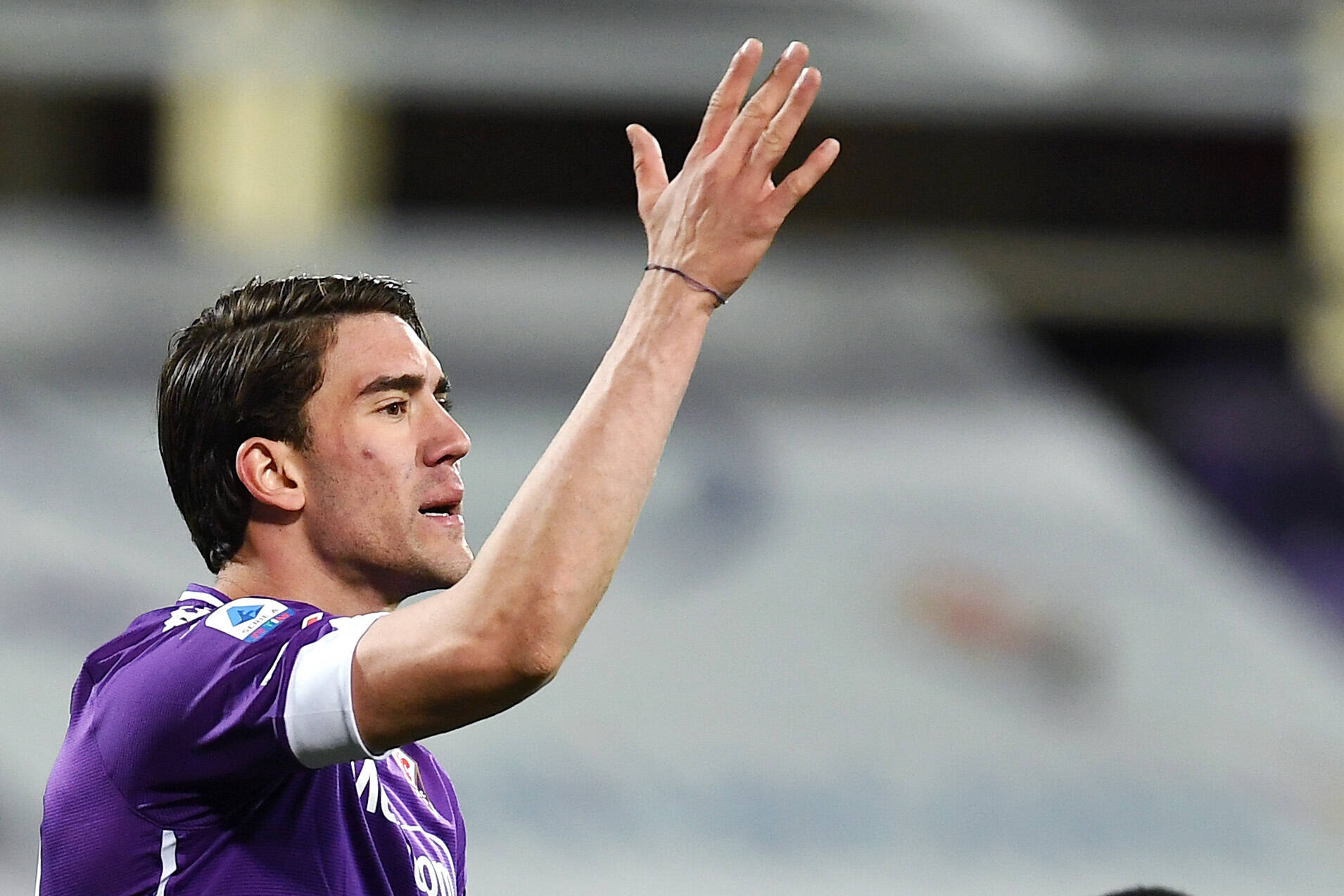 Tottenham Hotspur eyeing a move for Vlahovic who is seen in the picture