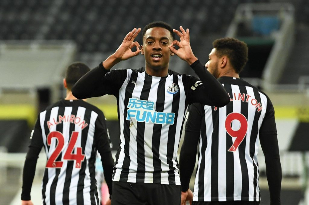Newcastle's Willock could miss Leeds United match (Willock is seen in the photo)
