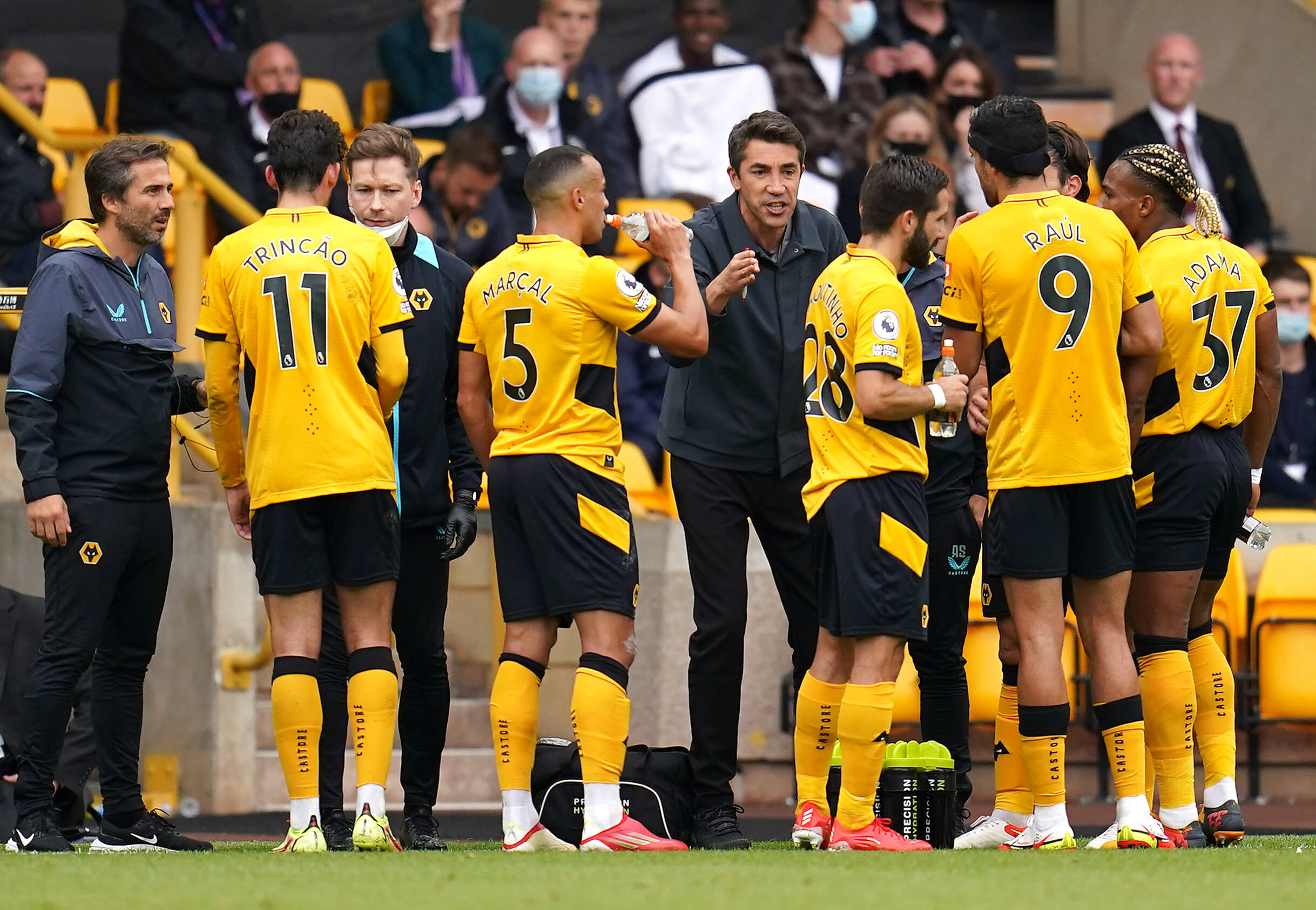 4-3-3 Wolves Predicted Lineup Vs Tottenham Hotspur (Wolves players are seen in the photo)