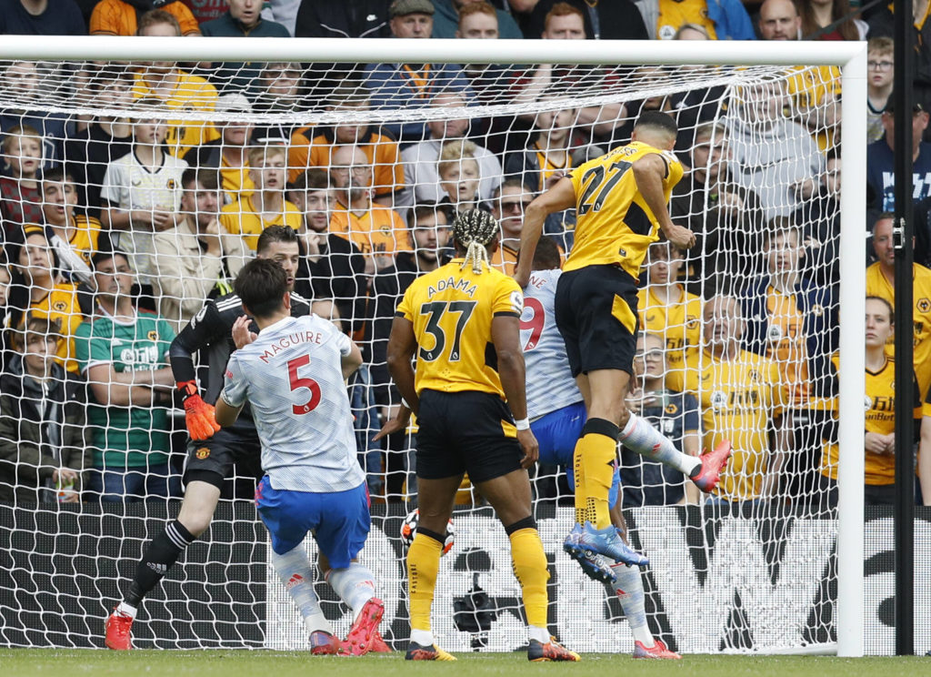 Wolves player ratings vs Manchester United (Wolves players are in action in the picture)